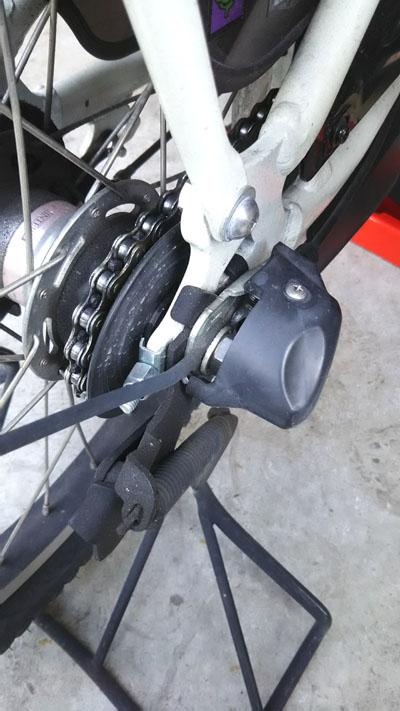 電動自転車 YAMAHA PAS Kiss mini のタイヤ交換